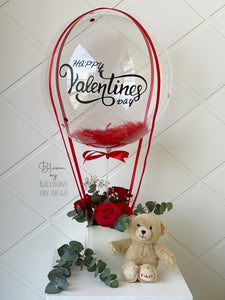Hot air Balloon with teddy bear- Valentine's Exclusive