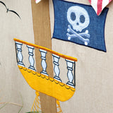 close up of crows nest on pirate play tent