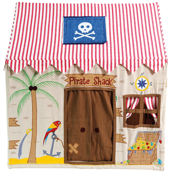 front view of pirate play tent