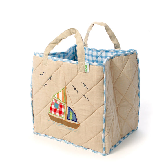 Beach house toy bag for children