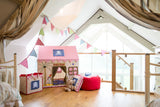pirate play tent from canvas and willow