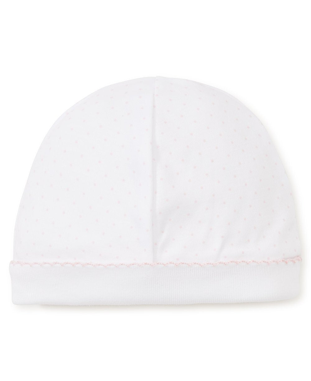 White and Pink Dot Hat