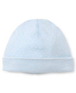 Blue and White Dot Hat
