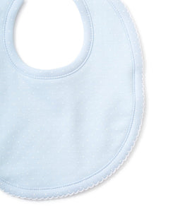 Blue and White Dot Bib