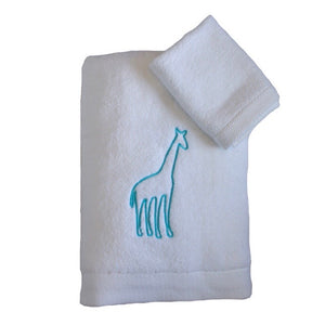 Giraffe Embroidered Towel Set