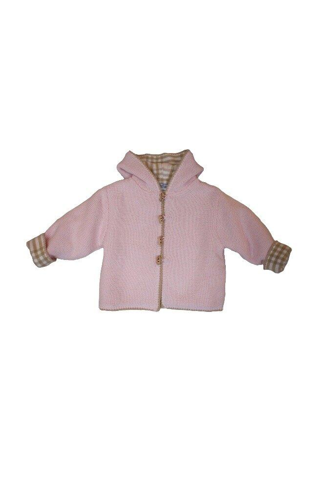 Pink Cotton Plaid Lined Hoodie