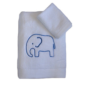 Elephant Embroidered Towel Set