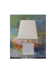 White Jade Crystal Mini Table Lamp