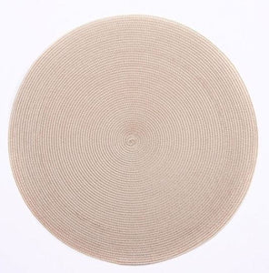 Sand Round Placemats
