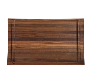 Walnut Rectangle Reversible Butterfly Carving Board