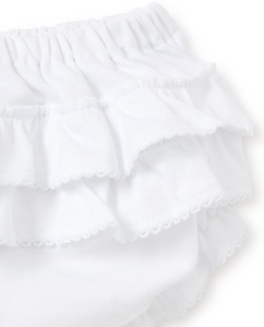White Ruffle Diaper Cover