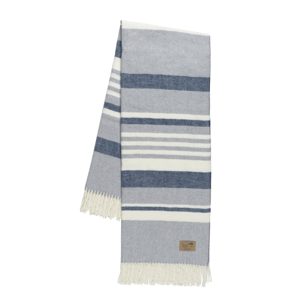 Blue And Light Gray Portside Italian Throw