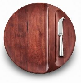 Sierra Divided Wood Tray w/Knife 13