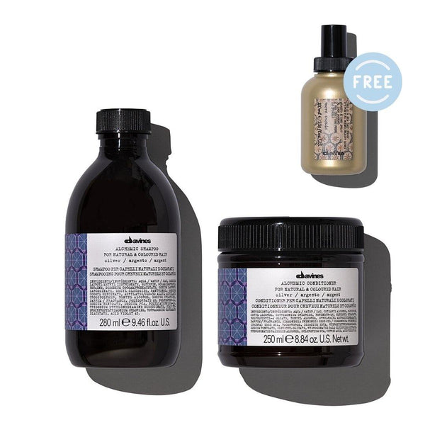 Davines ALCHEMIC Shampoo + Conditioner in SILVER