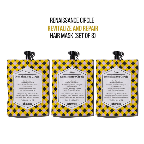 Davines THE CIRCLE CHRONICLES I The Renaissance Circle Hair Mask (Set of 3) - DAVINES I SUSTAINABLE BEAUTY