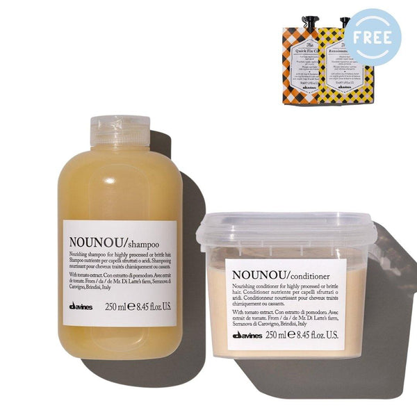 Davines NOUNOU Shampoo + Conditioner  I Free 2 TCC Hair Masks - DAVINES I SUSTAINABLE BEAUTY