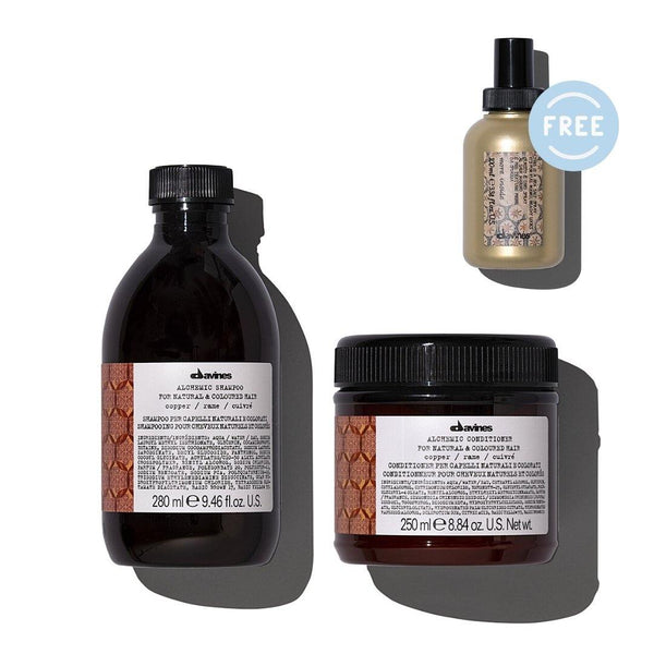 Davines ALCHEMIC Shampoo + Conditioner in COPPER