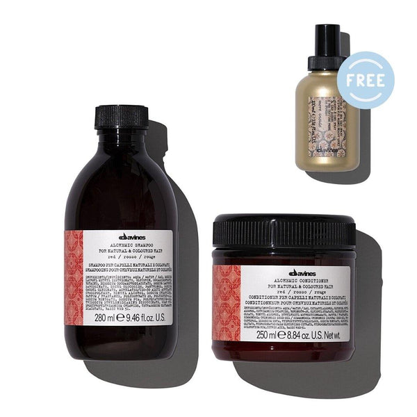 Davines ALCHEMIC Shampoo + Conditioner in RED