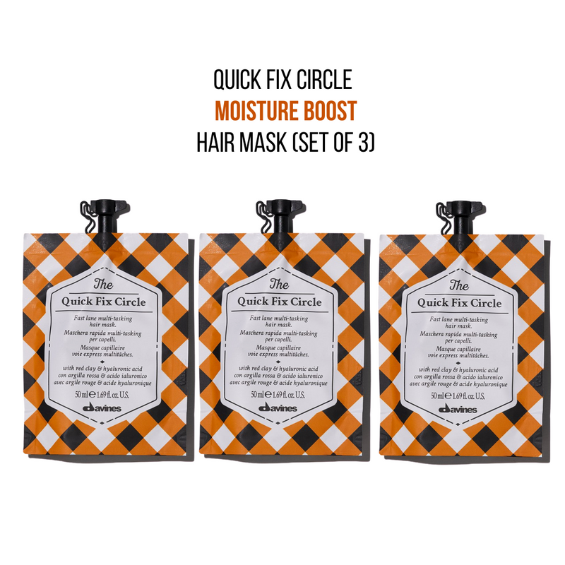 Davines The Quick Fix Circle Hair Mask (Set of 3)