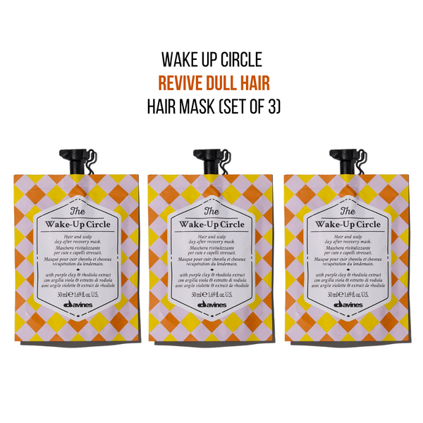 Davines The Wake-Up Circle Hair Mask (Set of 3)