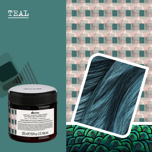 Davines Alchemic Creative Conditioner in Teal