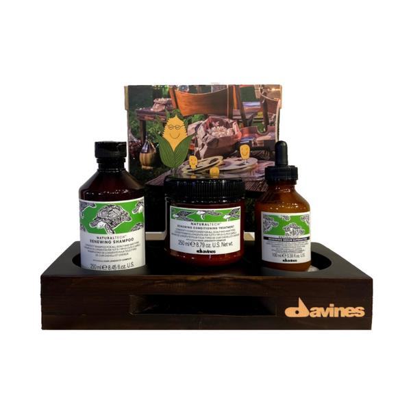 Davines Renewing Shampoo + Renewing Conditioner + Renewing Superactive with FREE Limited Edition Mobile Sound Amplifier / Desk Organizer