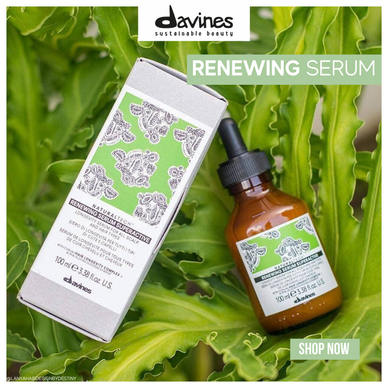 Davines NaturalTech RENEWING Superactive Serum I Free OI Hand Balm - DAVINES I SUSTAINABLE BEAUTY