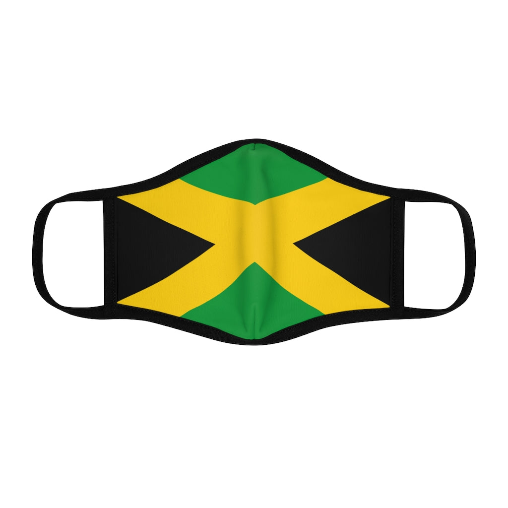 Jamaican flag Fitted Polyester Face Mask
