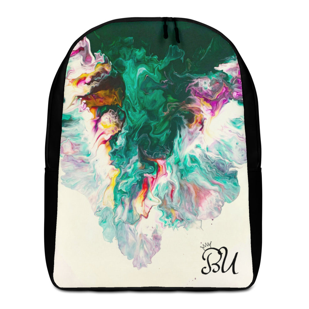 Waterfall abstract art print Minimalist Backpack