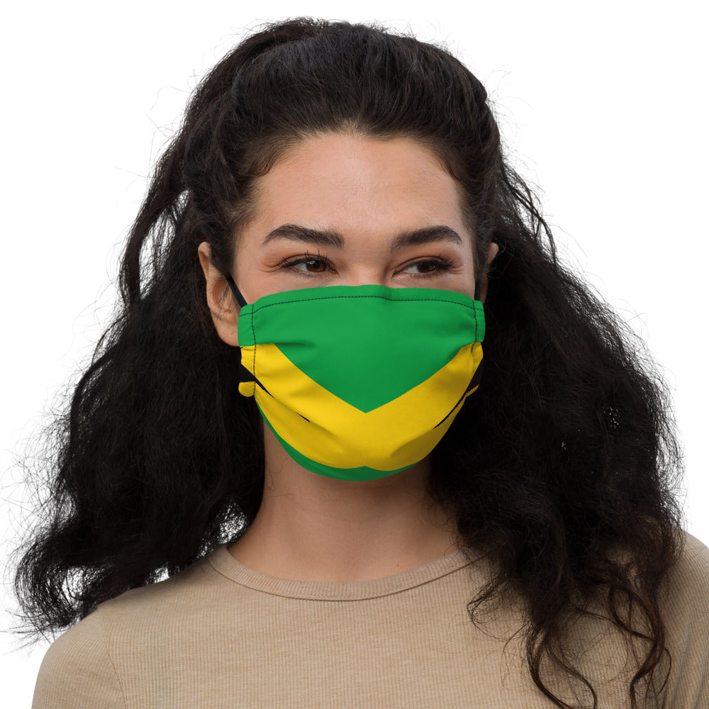 Jamaican flag Premium face mask