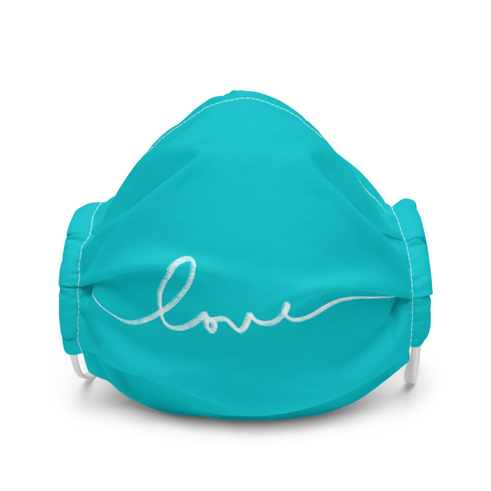 Teal Love Premium face mask