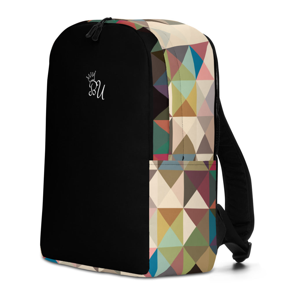 BerryU mosaic side print Minimalist Backpack