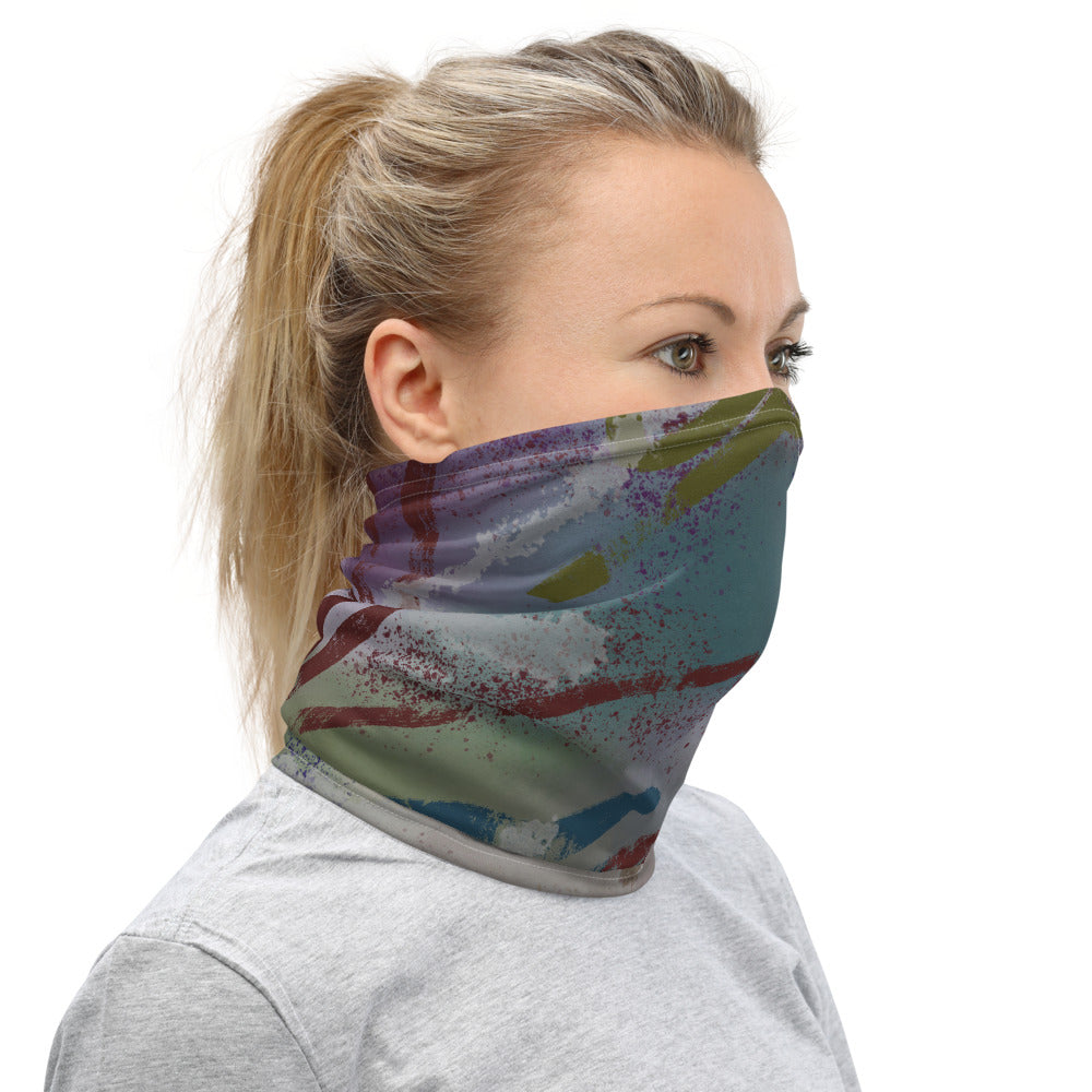 in the dark abstract Neck Gaiter