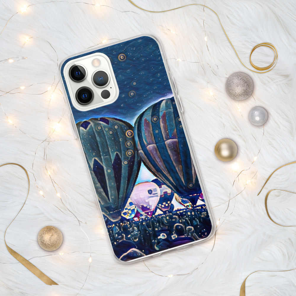 Balloon Blue Custom iPhone Case