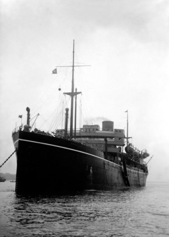 BENALLA at anchor