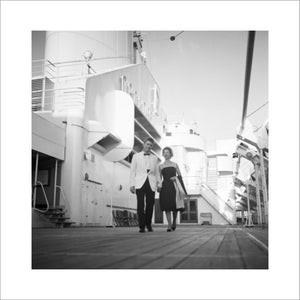 Couple on promenade deck onboard ORCADES