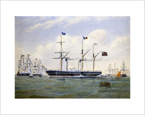 HINDOSTAN leaving Southampton with the first Indian Mails