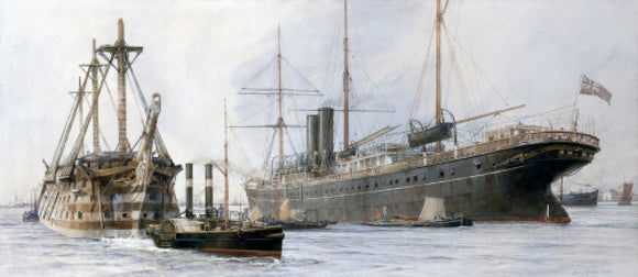 The Hulk of H.M.S. Queen and VALETTA