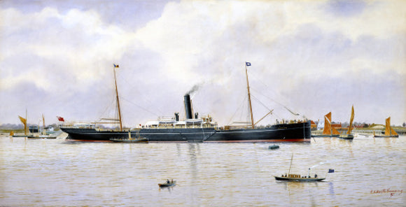 CEYLON at anchor on the Thames