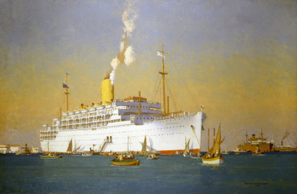 STRATHEDEN at anchor off Port Said