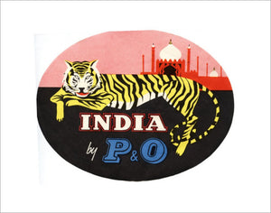 Baggage Label - 'India by P&O'