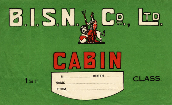 B.I. First Class Baggage Label
