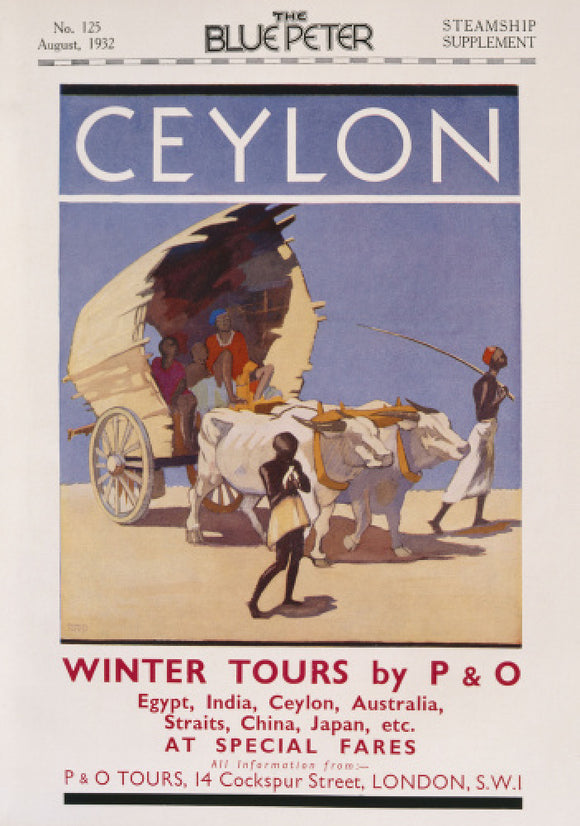 P&O Ceylon Advert,1932