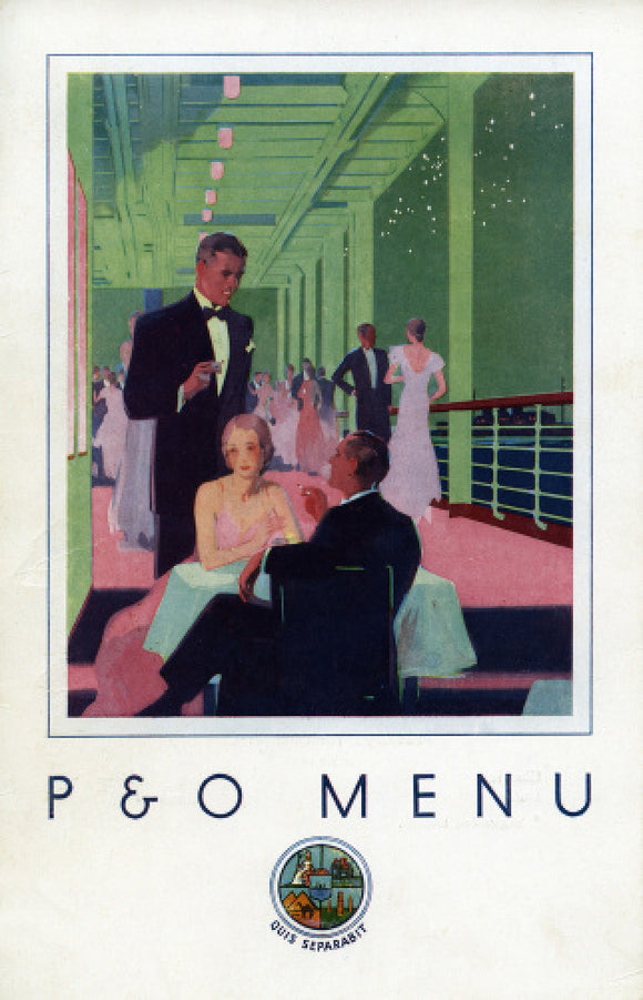 P&O 'Gala Night' Menu, STRATHAIRD 1933