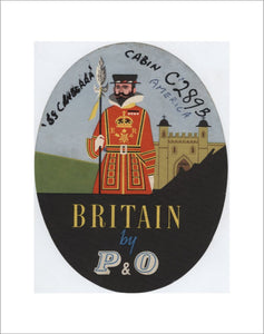 Baggage Label - 'Britain by P&O'