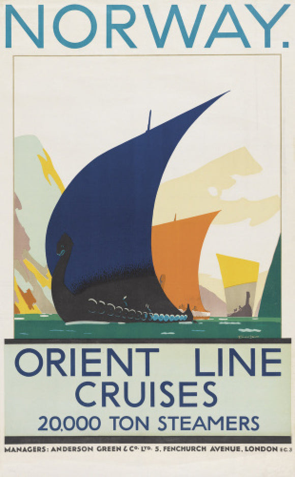 Norway - Orient Line Cruises - 20,000 ton steamers