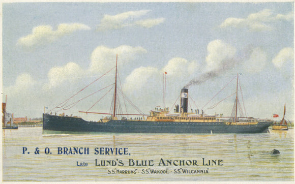 Early P&O Branch Service Postcard