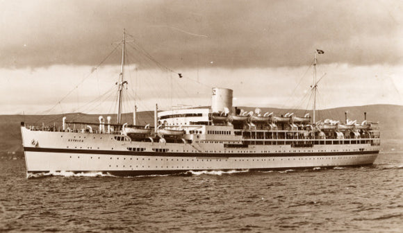 Troopship ETTRICK on sea trials