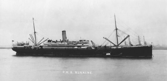 RUAHINE at anchor