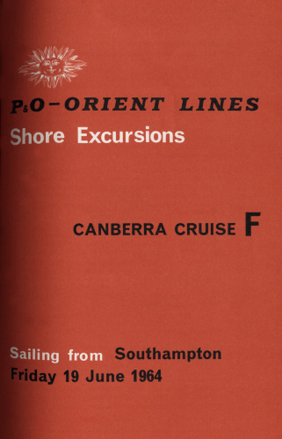 CANBERRA shore excursions brochure 1964